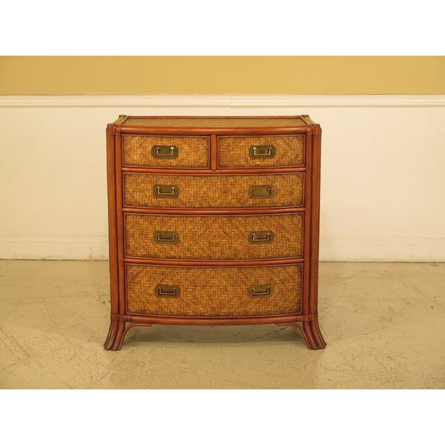 Maitland-Smith Bow Front Woven Leather Chest For Sale - Image 11 of 11