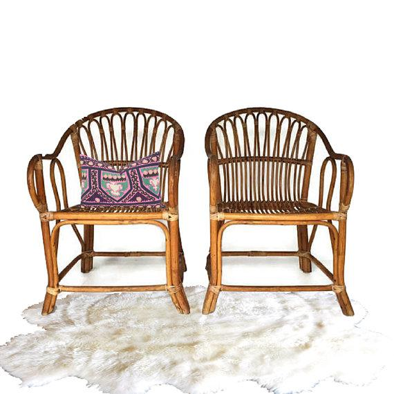 Mid Century Modern Bamboo Chairs Sculpted Bent Bamboo Franco Albini Style - a Pair For Sale - Image 9 of 11