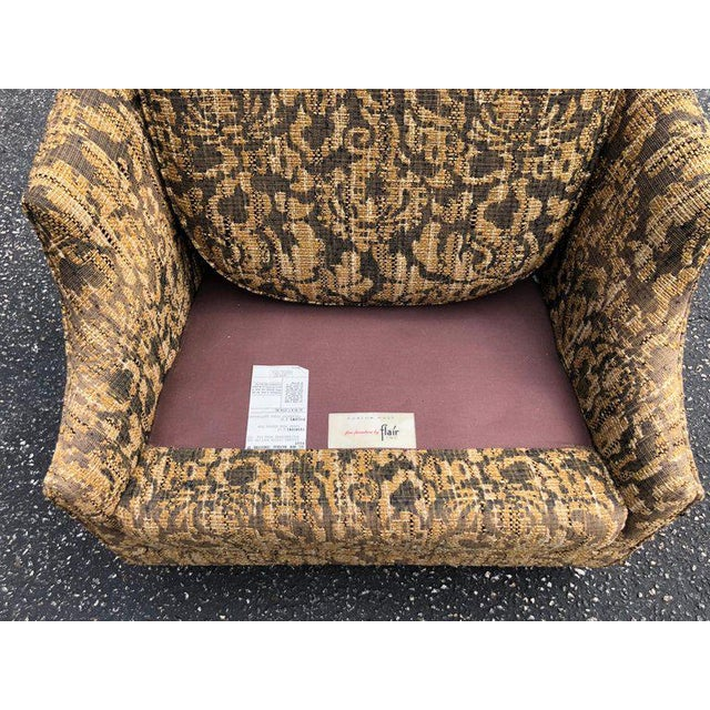 """Textile Bernhardt """"Flair"""" Club Chairs - a Pair For Sale - Image 7 of 11"""