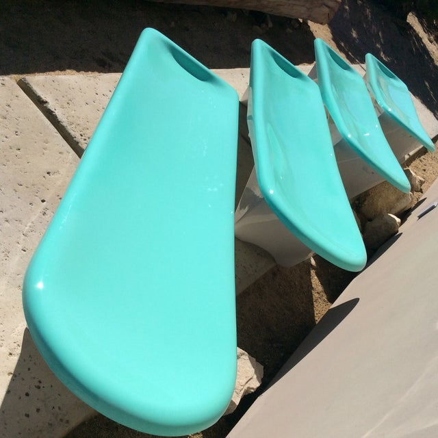 Fibrella Chaise Lounges - Set of 4 For Sale - Image 5 of 8