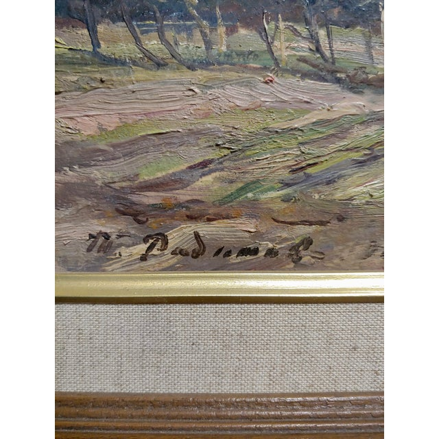 Tatyana Radimova -Khotkovo Village Landscape-1968 Russian Oil Painting For Sale In Los Angeles - Image 6 of 10