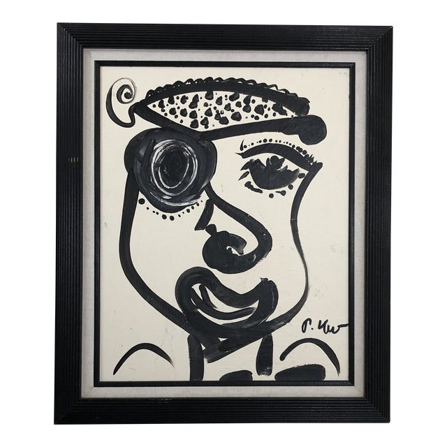 "1980s Abstract Painting, ""Pirate Face"" by Peter Keil For Sale"
