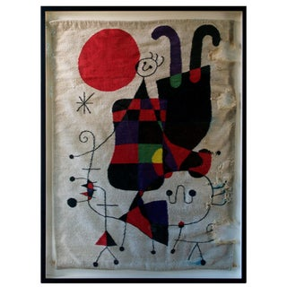 1950s Vintage Joan Miro Tapestry For Sale