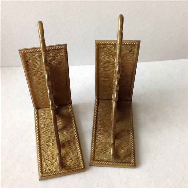 Antique Brass Radius Bookends - A Pair - Image 9 of 11