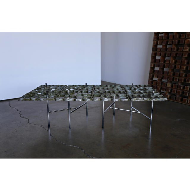 Aluminum Mid Century Sculptural Coffee Table by Donald Drumm For Sale - Image 7 of 12