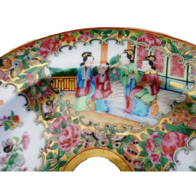 19th C Chinese Export Porcelain Rose Medallion Soup Plate - Image 2 of 11