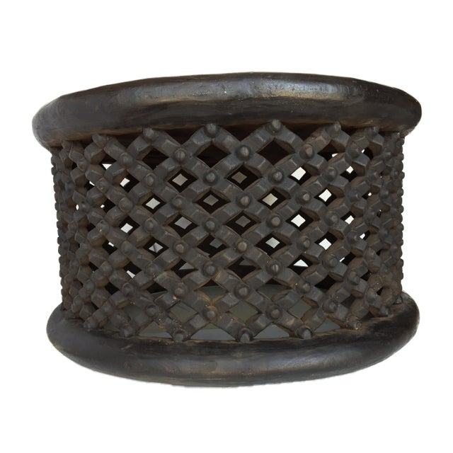 """1970s African Bamileke Spider Table/ Stool 30.5"""" D For Sale - Image 5 of 7"""