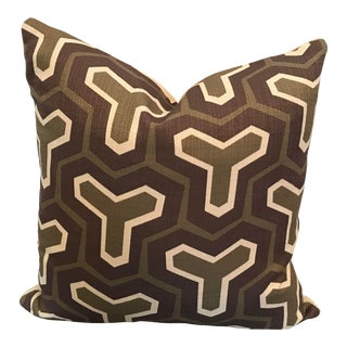 Custom Woven Abstract Pattern Pillow For Sale