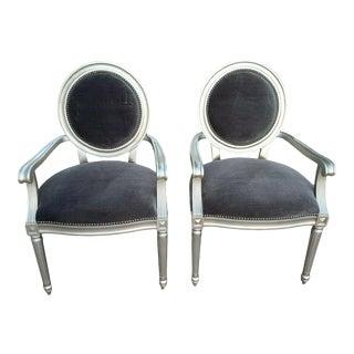 Bernhardt Louis Arm Chairs - a Pair For Sale