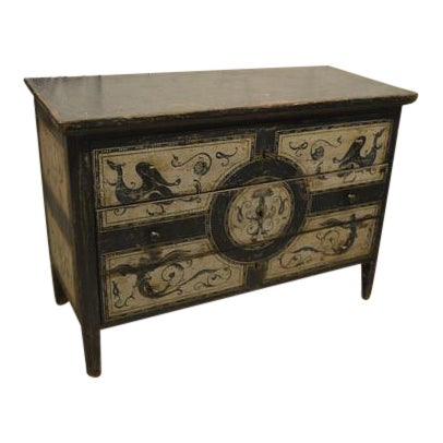 Antique Chest With New Paint From Spain For Sale