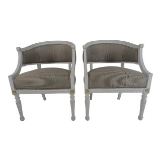 19th Century Swedish Armchairs - a Pair For Sale