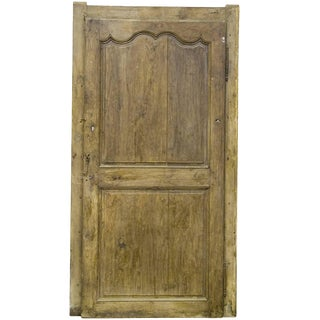 Late 18th Century Interior Solid French Oak Door For Sale