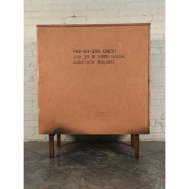 Walnut Mid-Century Modern 4-Drawer Dresser - Image 7 of 8