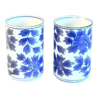 Blue and White Sake Cups - a Pair