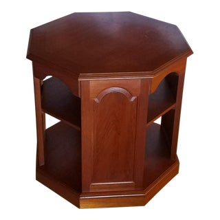 1960s Asian Rosewood Octagonal End Table For Sale