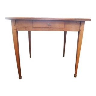 19th Century Walnut & Leather Game Table For Sale
