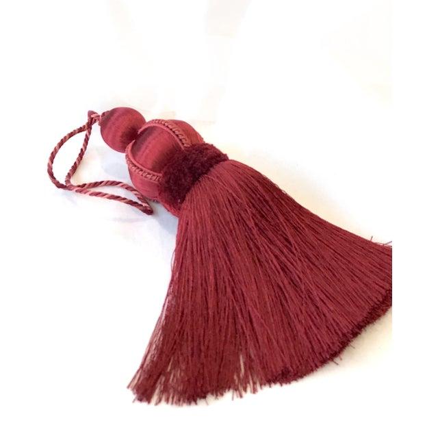 Textile Velvet Ruche Rouge Key Tassel For Sale - Image 7 of 10