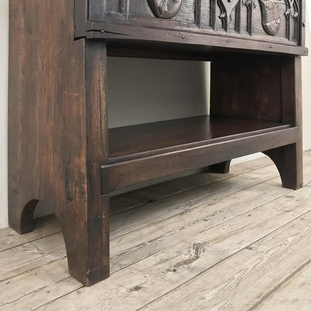 Antique French Gothic Low Buffet - Console - Sofa Table For Sale - Image 11 of 13