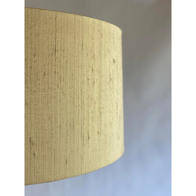 Metal Bergboms Model G-025 Brass Floor Lamp With Silk Shade For Sale - Image 7 of 12