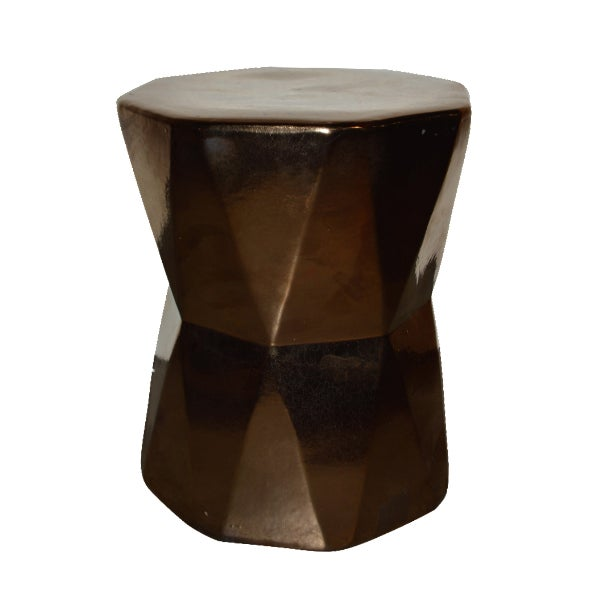 Gold Geometric Side Table - Image 1 of 4