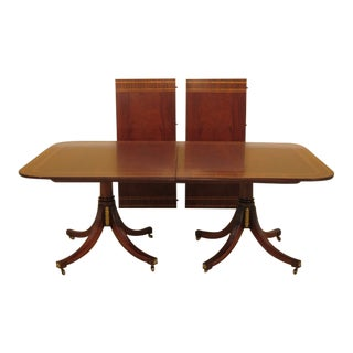 Baker Stately Homes Regency Mahogany Dining Room Table For Sale