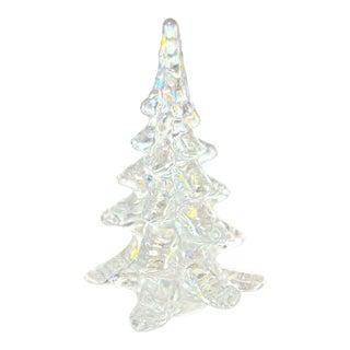 Pearlescent Blown Art Glass Tree