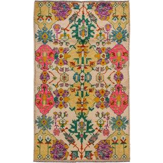 """Apadana - Modern Afghan Gabbeh Rug, 3'2"""" x 5'2"""""""