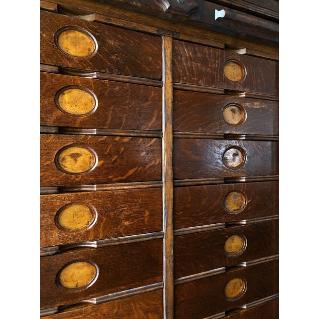 Antique Ambergs File Cabinet For Sale - Image 9 of 11