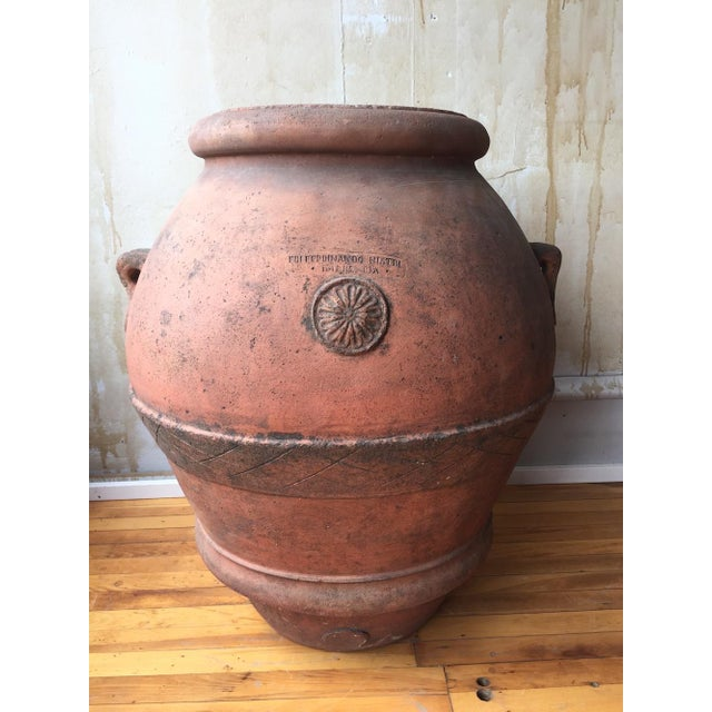 Antique Italian Terra Cotta Oil Pot For Sale - Image 5 of 8
