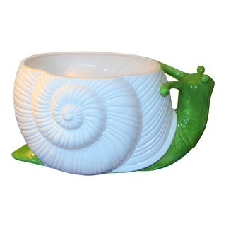 Large Mid-Century Ceramic Snail Planter