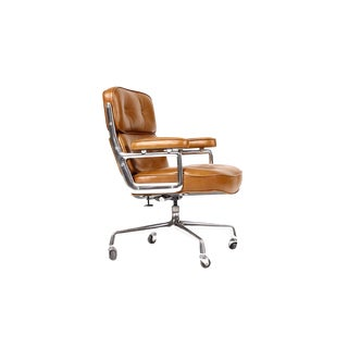 Charles Eames for Herman Miller Mid-Century Cognac Leather Time Life Desk Chair For Sale