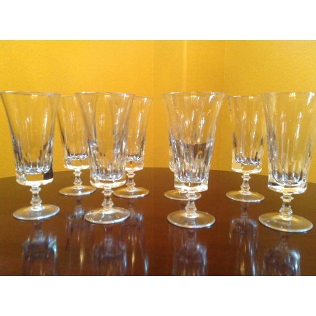 1950s Vintage Crystal Goblets - Set of 8 For Sale In Austin - Image 6 of 8