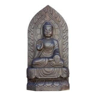 Antique Black Stone Buddha Statue For Sale
