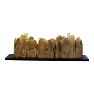 Driftwood Console Table Lamp For Sale