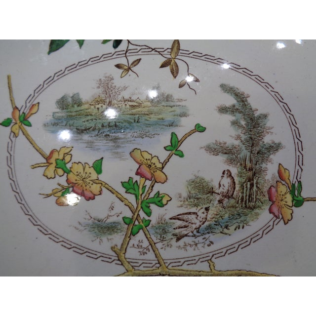 1800s S H Sampson Hancock English Large Platter - Image 3 of 5
