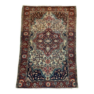 Late 19th Century Antique Persian Sarouk Rug- 3′4″ × 5′ For Sale