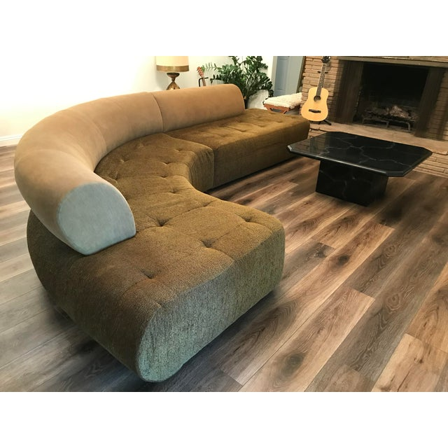 1990s Sculptural Post Modern Curved Italian Sectional For Sale - Image 4 of 11