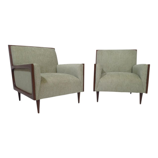 Mid-Century Modern Style Lounge Chairs - a Pair For Sale