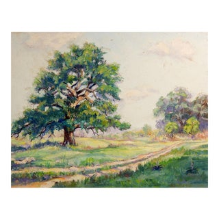 Old Oaks Landscape Painting For Sale