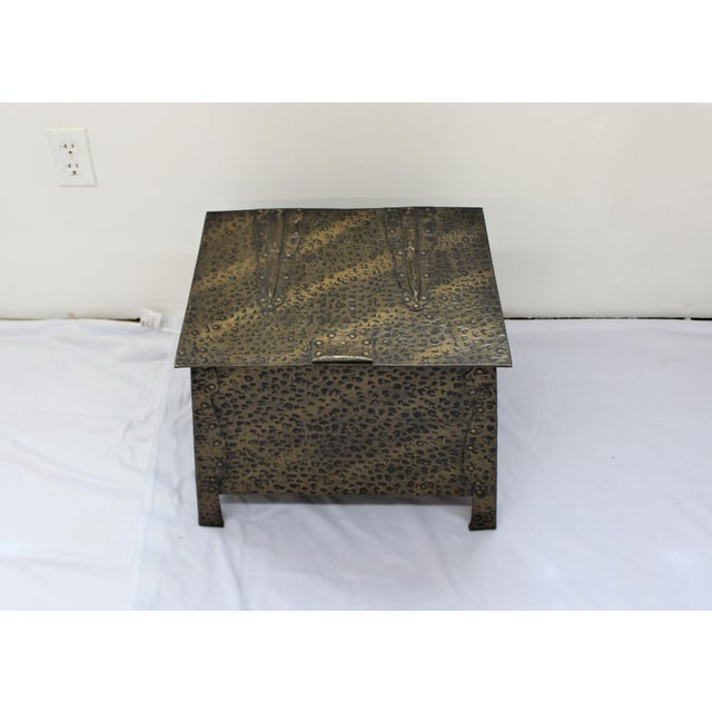 Mid Century Modern Hammered Metal Trunk Chairish