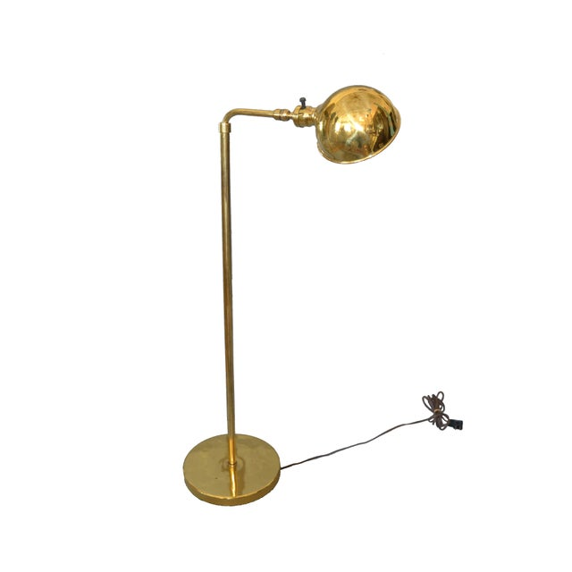 American Mid-Century Modern Adjustable American Vintage Brass Floor or Reading Lamp For Sale - Image 3 of 12