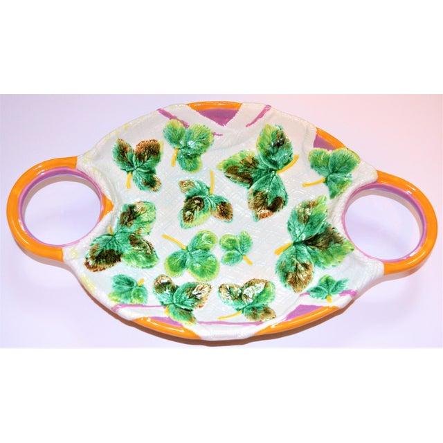 1980s Vintage Mottahedeh Majolica Platter For Sale - Image 5 of 7