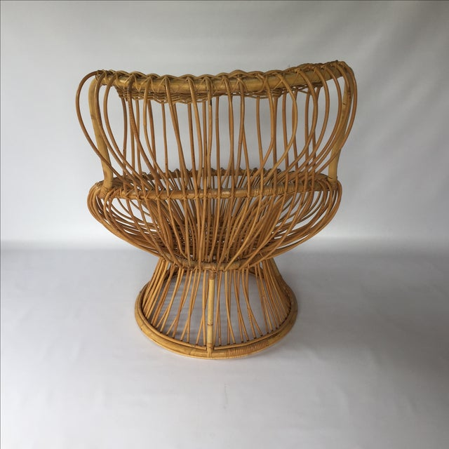 Franco Albini Style Vintage Rattan Margarita Chair For Sale - Image 5 of 7