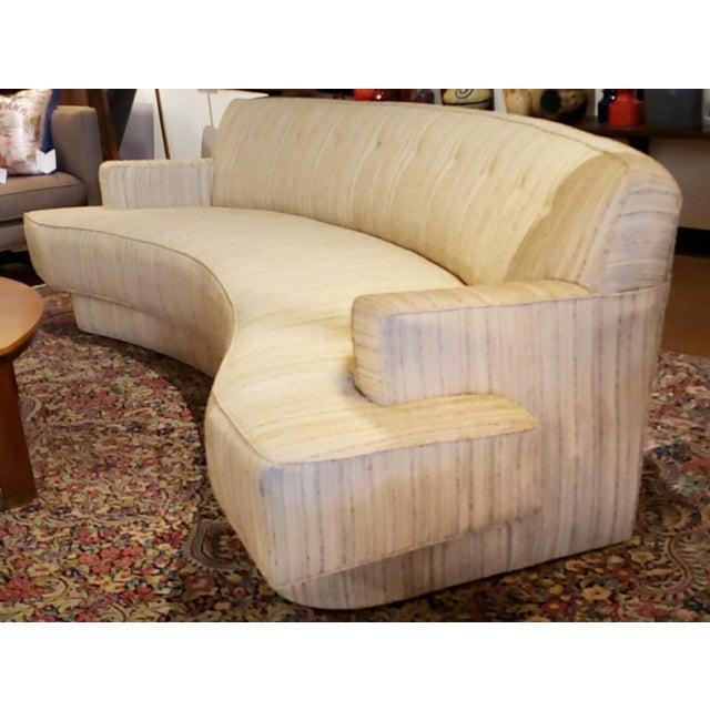 Tan Mid-Century Modern Harvey Probber Custom Curved Sofa For Sale - Image 8 of 9