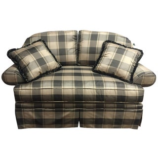 Pearson Plaid Love Seat For Sale