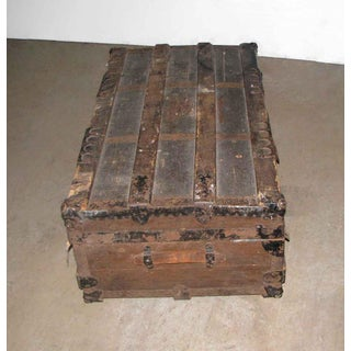 Antique Brown Storage Trunk Preview