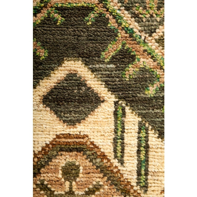 """Primitive Tribal Style Hand Knotted Area Rug - 4' X 9'5"""" For Sale - Image 3 of 3"""