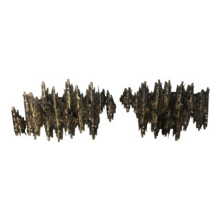 Brutalist Wall Sconces - a Pair For Sale