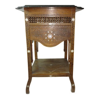 19th Century Anglo Indian Inlaid Wood Tea Table For Sale