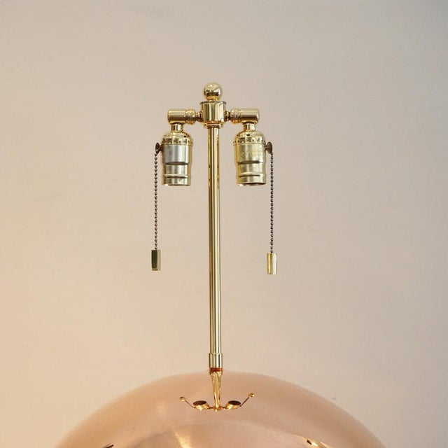 1970s Karl Springer Copper Orb Table Lamp For Sale In Los Angeles - Image 6 of 7